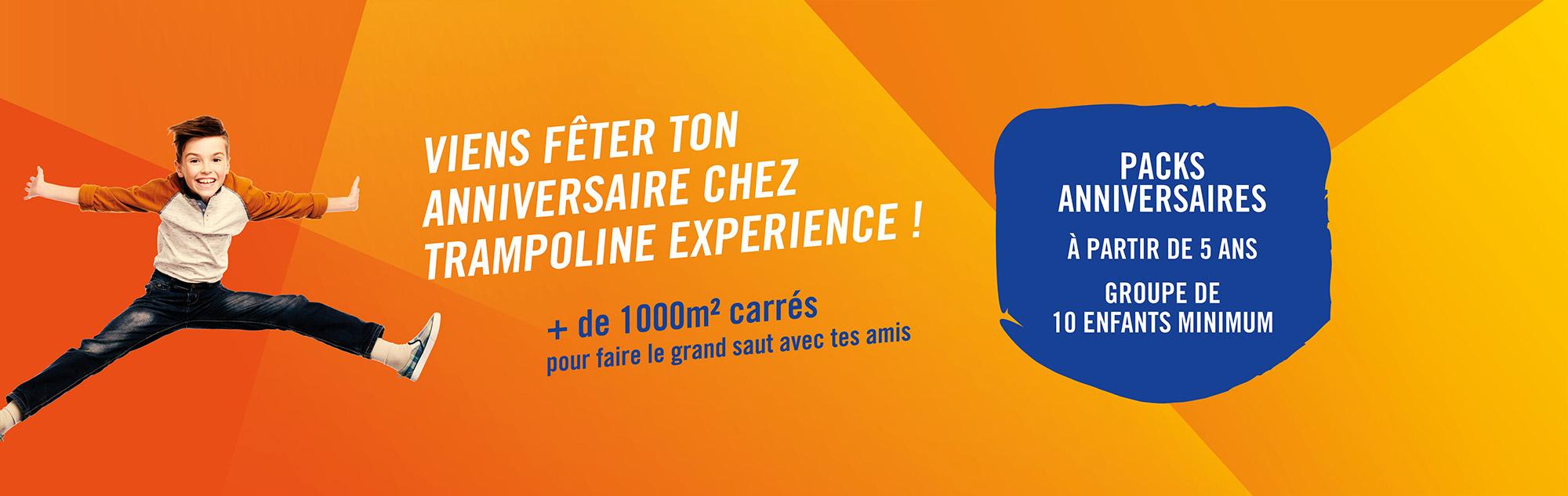 Venez fêter votre anniversaire au Trampoline Expérience Dijon